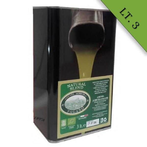 Olio extravergine di oliva biologico latta da Litri 3