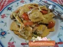 Ricetta ravioli freddi al peperone crusco, tonno e zucchine