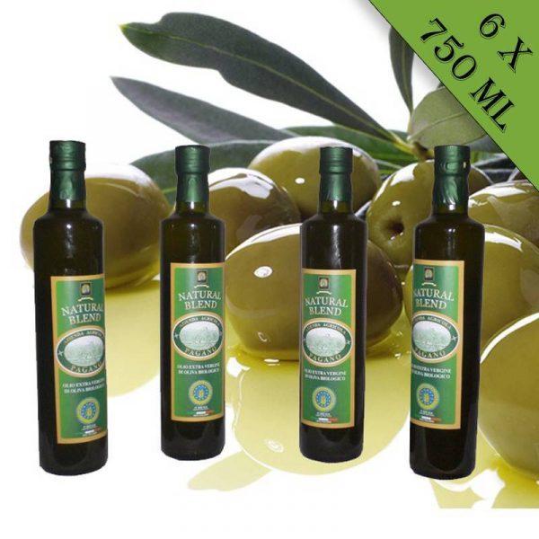 Olio extravergine di oliva biologico 6 bottiglie da 750 ml