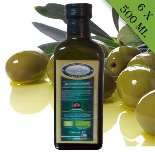 Olio extravergine di oliva biologico 6 bottiglie da 500 ml